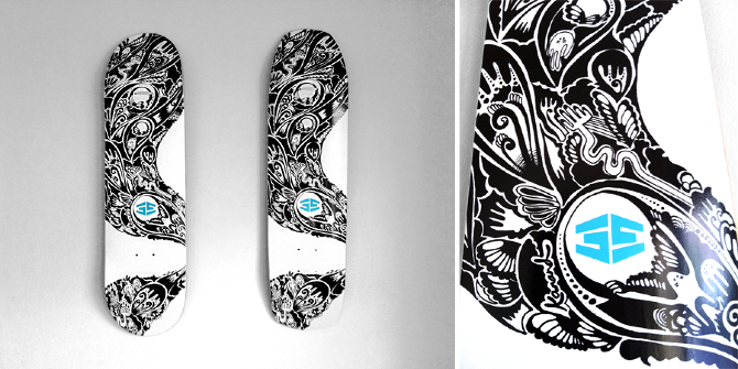 35th North Skate Deck - lindy kanand