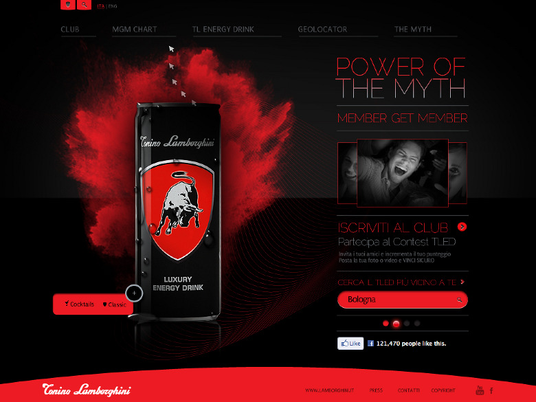 Tonino Lamborghini Energy Drink Art Direction